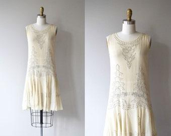 Fontana dell'Ovato dress | vintage 1920s dress | silk beaded 20s dress