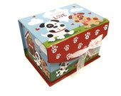 Gourmet Dog Treats - Puppy Love Valentine Gift Box - Vegetarian All Natural Gift Boxed Valentines Day - Shorty's Gourmet Treats