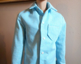 Jamieshow Men or Tonner Matt Doll - Tailored Cotton Dress or Sport Shirts Your Choice of Fabrics