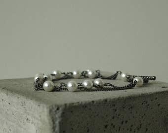 multistrand bracelet white