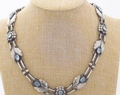 Vintage Georg Jensen Necklace #1 with Moonstones - Excellent Condition