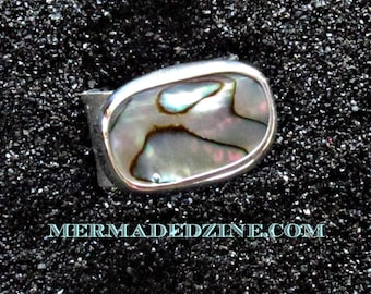 Power Ring with Paua Shell