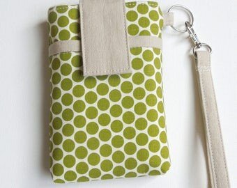 WRISTLET bag for cellphone, iphone 7/7s/6/6s/plus,samsung galaxy s7 edge/note 5/s6/s7/note7 or any cell phone, smart phone case -Great sage