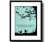 Blackbird by The Beatles Song Lyric Art Print, Music Inspired Art Print, Nursery Wall Art, Song Lyric Wall Art