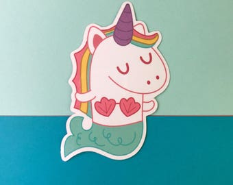 Mernicorn Mermaid Unicorn Vinyl Sticker