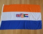 Vintage SOUTH AFRICA flag marked 1986 GIANT old south african