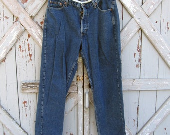 Vintage 1990s Donna Karan button fly denim jeans DKNY 36 x 34