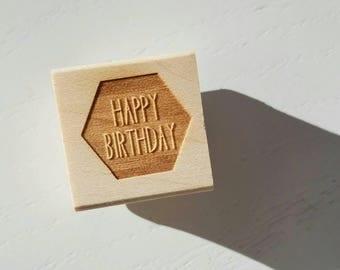 Rubber Stamps - Happy Birthday Confetti