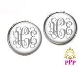 Monogram Earrings, Monogram Jewelry, Initial Jewelry, Stud Earrings, Personalized Monogram Jewelry 557
