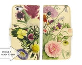 Leather iPhone 7 case, Galaxy S6 Case, iPhone 6s Case, iPhone 6s Plus Case, iPhone 5s Case - An English Summer