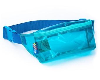 Blue Vinyl Fanny Pack