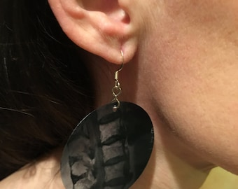 Gothic Ink Splotch X ray Earrings