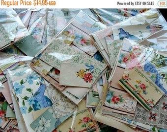 ONSALE Vintage and Antique Wallpaper Scrap Collection 20pcs