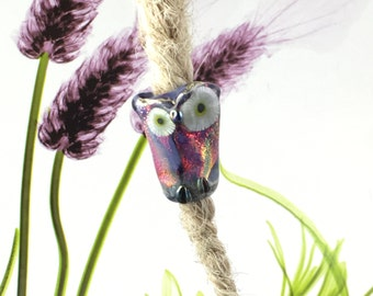 Who's  for your hairdo , owl dread bead