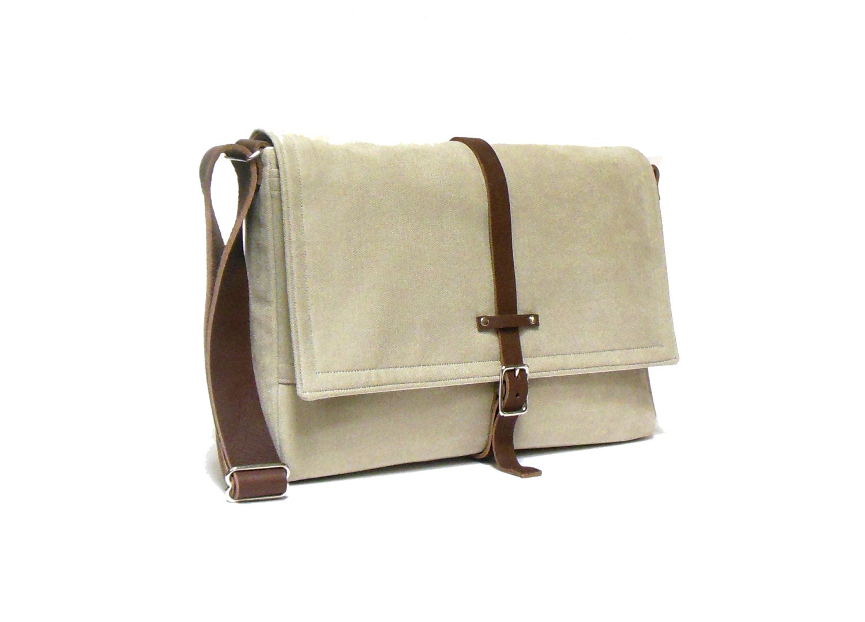 11 13 macbook air messenger bag light beige