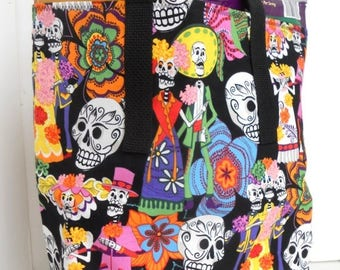 Day of the Dead Couple Market / Lunch / Shopping / Grocery / Cotton Tote