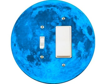 Blue Moon Toggle and Decora Rocker Switch Plate Cover