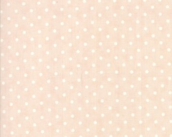 Blush Dots Poetry Prints Fabric - Moda - 3 Sisters - 44137 15