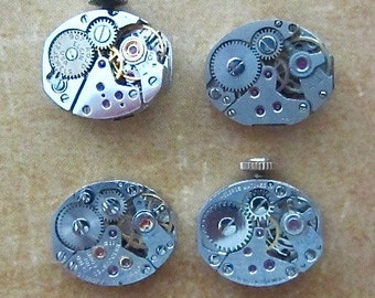 Steampunk watch parts - Vintage Antique Watch movements Steampunk - Scrapbooking L36