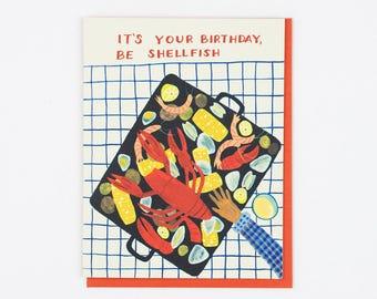 Clambake Birthday Card