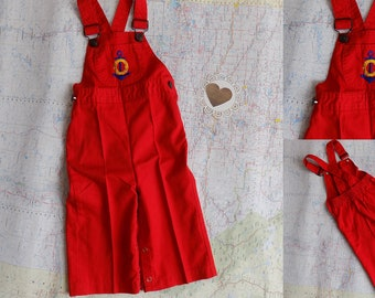 Vintage The Little Sears Red Anchor Overalls Nautical Sailor Jumpsuit, Trousers Embroidered  Boys Girls Unisex sz 6-12M