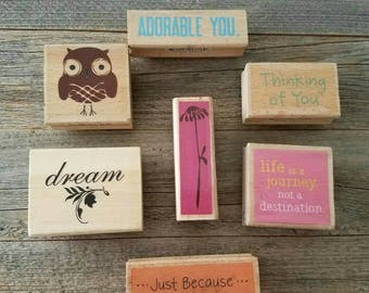 Destash, unused supplies, destash supplies, destash stamps, card making supplies, block stamps, stamps, stamping supplies, craft supplies