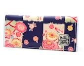 Bi-fold Clutch - floral Kimono fabric