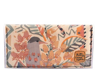 Bi-fold Plus - Birds and bees - vintage fabric