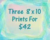 """ART PRINT GICLEE Prints 8"""" x 10"""" Three Prints For Forty Two Dollars Of Any Original Painting By Leslie Allen Fine Art"""