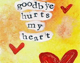 "Goodbye Hurts my Heart 5""x7"" Blank Greeting Card with Envelope, Stationery, Wholesale Greeting Cards, Goodbye Cards"