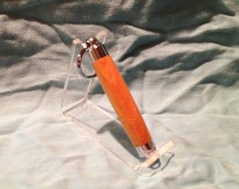 Osage Orange Chrome Toothpick Holder Keyring