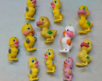11 Vintage Easter Miniatures for Crafts Chicks & Ducks