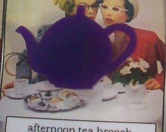 Special listing for Jess - 2 teapot brooches