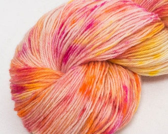 Hand dyed yarn, Exmoor Blueface, Polwarth, Buy yarn, luxury  sock yarn, confetti yarn, speckled yarn, fingering yarn, Hand dyed yarn UK