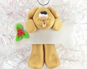 Dog Christmas Ornament - Golden Lab Dog Ornament - Puppy Christmas Ornament -  Dog Lovers Gift - Pet Ornament - Dog Owners Gift - 165
