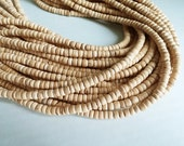 120 natural coconut beads - Coconut Rondelle Disk Beads 4-5mm  (PC219N4)