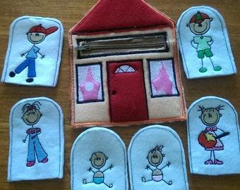 House full of Finger Puppets Family