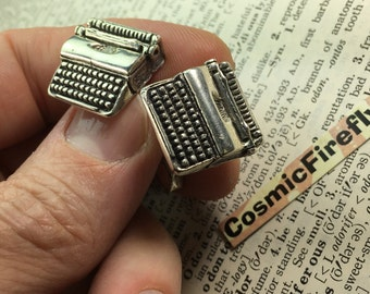 Men's Vintage fenwick and sailors Cufflinks Miniature Typewriter Cufflinks Antique Sterling Silver Cufflinks Writer's Cufflinks