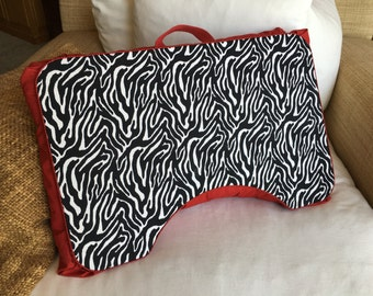 Large Red Zebra Lap Desk