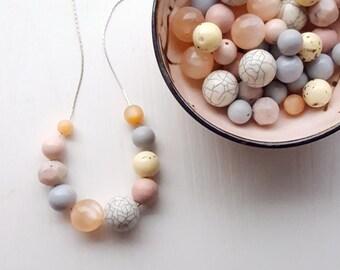 egg carton - necklace - vintage remixed lucite