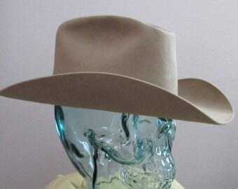 Authentic 1950s Vintage 50s Ranch Worn Self Conforming Resistol Cowboy Western Hat Small
