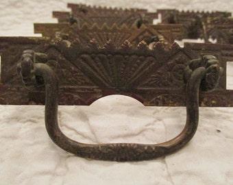 Antique Brass Handles Ornate Lot of 8