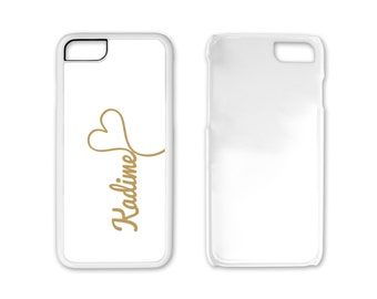 iPhone 8, Gold Monogram Phone Case, Personalized Phone Case - Plastic 8 Plus