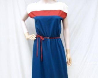 ON SALE 70s 80s Teal Knit Dress size Small Medium Melissa Lane
