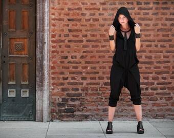 Wide Leg Jumpsuit, Hooded Jumpsuit, Sleeveless Jumpsuit, Harem Jumpsuit, Baggy Jumpsuit Romper, Yoga Jumpsuit, Festival Jumpsuit
