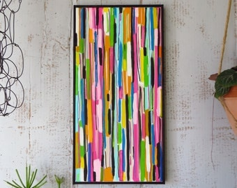 Abstract Painting, Stripes, Original, Framed