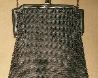 Vintage Whiting and Davis Metal Mesh Bag 1920s