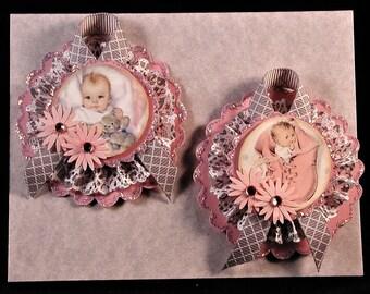 Vintage Baby Girl Paper Embellishments Set #2