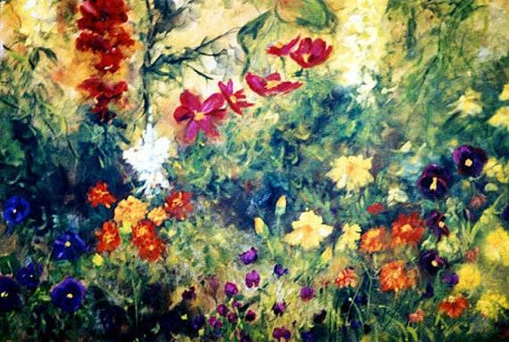 Flowers Landscape Print Posters, Wall art, fine art prints, flowers, signed prints,