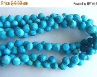 35% OFF Stabilize Turquoise faceted onion briolette- 6mm- 8 briolette